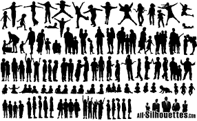 free silhouette images 60 children kids teens silhouettes vector eps free download logo
