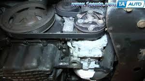 how to install replace power steering belt 2 7l chrysler sebring
