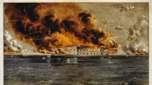 first shots of the civil war fired at fort sumter