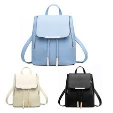 fashion women backpack casual leather backpack for teenage