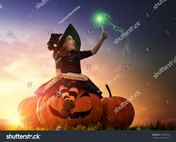 halloween photo book happy halloween cute cheerful little witch stock photo 479432752