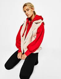 biker waistcoat jackets clothing woman bershka egypt