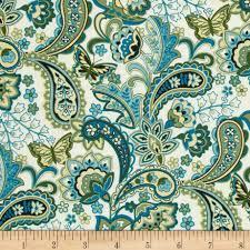 cassandra paisley teal discount designer fabric fabric com