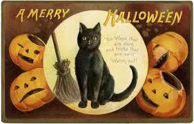 vintage halloween cat clipart 53