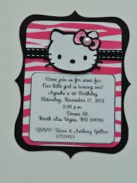 Hello Kitty Invitation Cards Hello Kitty Black And Pink Zebra Birthday Invitations And Name
