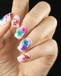thanksgiving nail polish colors 20 flower nail art ideas floral manicures for spring and summer
