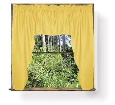 Solid Color Valances For Windows Solid Or Gingham Colored Swag Window Valance In 66 Colors