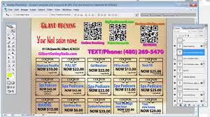 week 1 how to edit your nail salon coupons using photoshop