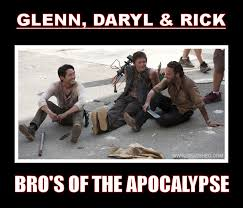 Glenn Walking Dead Meme - image the walking dead season 3 glenn daryl rick apocalypse bros