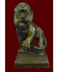 savings on handmade european bronze sculpture ferocious wild