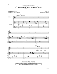 Nancy Price by Come And Kneel At The Cross Satb By Don J W Pepper Sheet Music