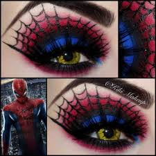 spiderman makeup halloween i am a nerd pinterest spiderman