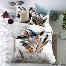 Peacock Feather Comforter Nursery Beddings Peacock Feather Duvet Cover Set In Navy With