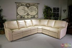 Top Grain Leather Sectional Sofas Living Steinbeck Top Grain Leather Sectional Sofa Set