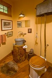 10 best rustic bathroom images on pinterest diy cabin ideas and