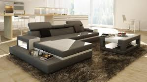 White Leather Sectional Sofa Loft Grey And White Leather Sectional Sofa W Coffee Table