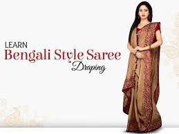 How To Draping Diy Bengali Style Saree Draping Watch This 6 Steps Video