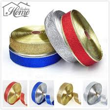 decorative ribbons online shop 20 m handmade decorative ribbons 50mm glitter golden