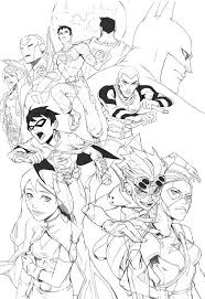 young justice coloring pages mediafoxstudio com