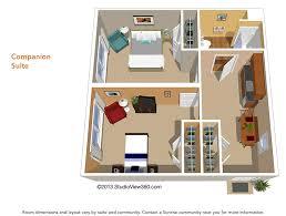 design floor plan floor plans suites studios senior living