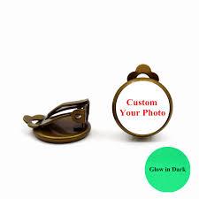 Custom Name Earrings Aliexpress Com Buy Custom Earrings S U0026y Glow In Dark Gold Color