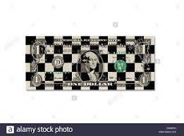 Chess Board Design One Dollar Bill One Dollar Banknote With Chess Board Pattern