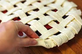 how to make a lattice top for a pie crust simplyrecipes com