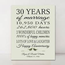 30 year anniversary gift ideas framed 30th anniversary gift 30th wedding anniversary gifts