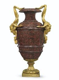 marble urns a pair of late louis xv ormolu mounted pink granite marble urns