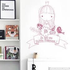 tickers chambre fille princesse sticker chambre enfant je suis une princesse
