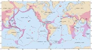 World Plate Boundaries Map by Integrated Science M4 Volcanoes