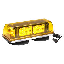 amber mini light bar whelen r10hdva responder super led magnet suction conical mini
