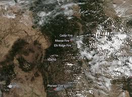 Idaho Fires Map Fires In Idaho Continue To Plague State Nasa