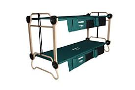 Bunk Cot Bed Disc O Bed Large With Organizers And Leg Extensions