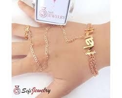 cincin lapis emas set perhiasan nama gelang sambung cincin lapis emas kode sjspn0002