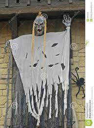 halloween street decoration gardaland italy editorial image