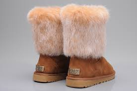 womens ugg boots fox fur ugg 5825 fox fur shoes for in brown ugg xz10160422