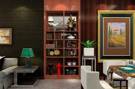 cabinet between dining room and living room 3d house