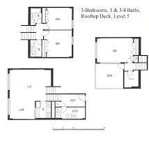 rooftop deck house plans unit floor plans