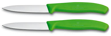 victorinox swissclassic set of 2 green paring knives