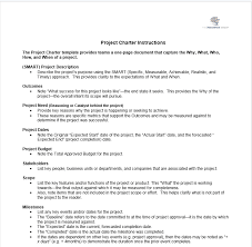 project charter template the persimmon group