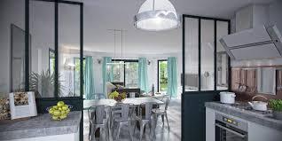 cloison vitree cuisine salon cloison vitree cuisine salon 2 conseils et id233es gt agencement