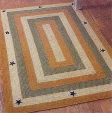 Country Primitive Rugs Primitive Rugs Square Old Building Pattern Center With Borders