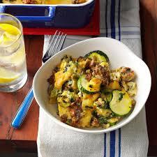 veggie sausage strata recipe taste of home