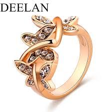 aliexpress com buy fashion crystal big rings trendy gold