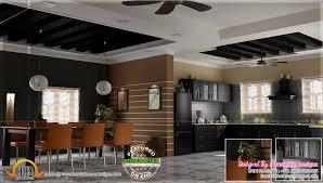 kitchen interior dining area design kerala home design and