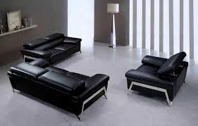 Black Modern Leather Sofa Modern Black Leather Sofa Set Vg724 Leather Sofas