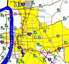 map louisiana highways interstates louisiana southeastroads interstate 10 eastbound baton