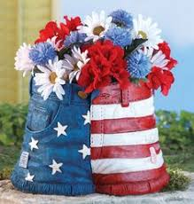 Patriotic Garden Decor Patriotic American Eagle Wall Or Fence Garden Planter 4th Of July