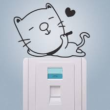 online get cheap cup stickers aliexpress com alibaba group hot enjoy life cat wall stickers switch refrigerator computer notebook cup phone stickers kids room mural